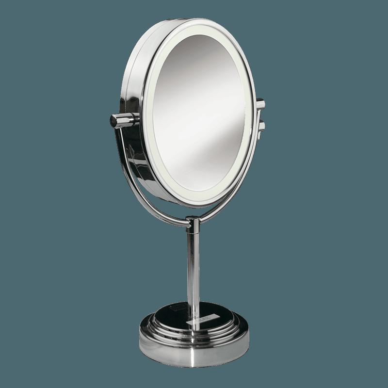 Miroirs miroir lumineux ovale 8437e babyliss paris - Miroir ovale sur pied ...