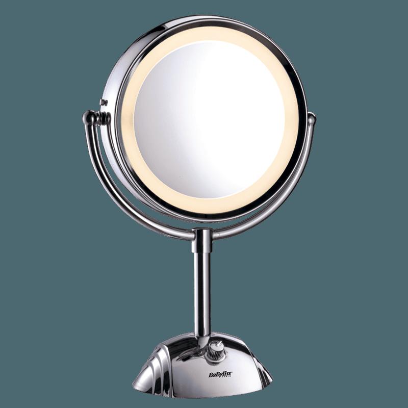 Miroirs miroir lumineux rond double face 8438e for Miroir double face